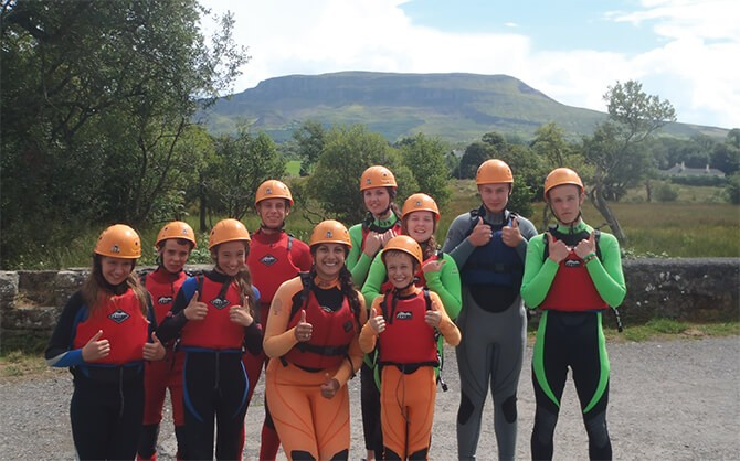 Group at Donegal Adventure Centre