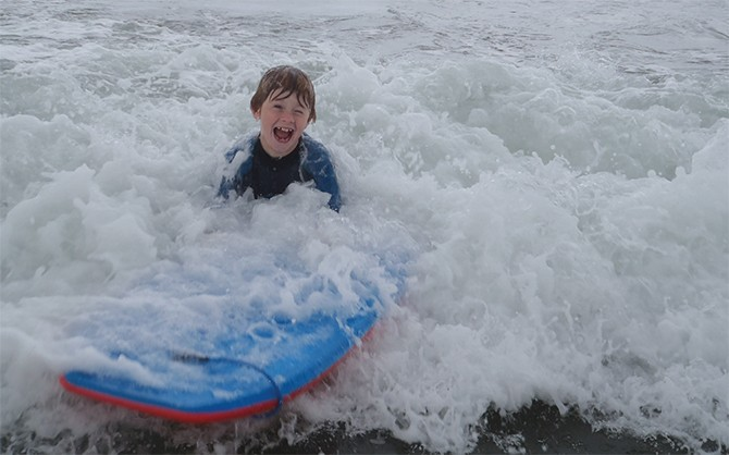 Enjoying Surfing with the Donegal Adventure Centre, Bundoran