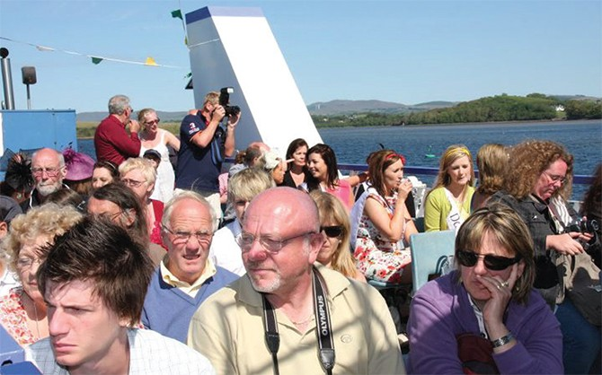 People on the top deck of the Donegal Water Bus