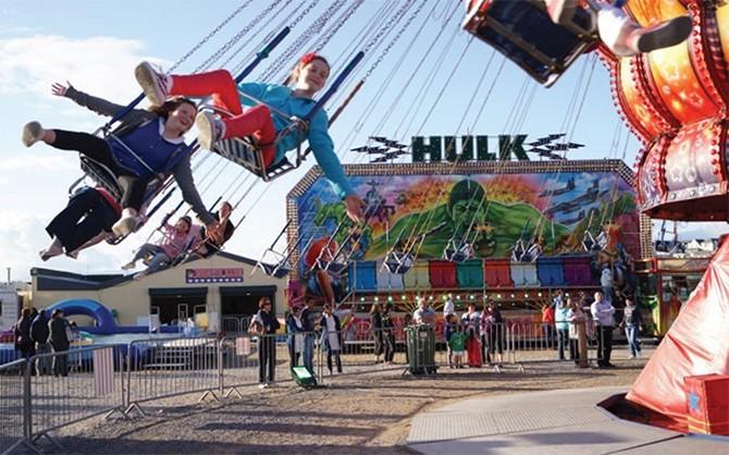 Children on an amusement ride @ the Bundoran Adventure Park