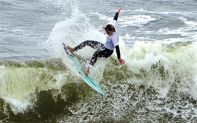 Surfing in Bundoran 1 by Andy Hill