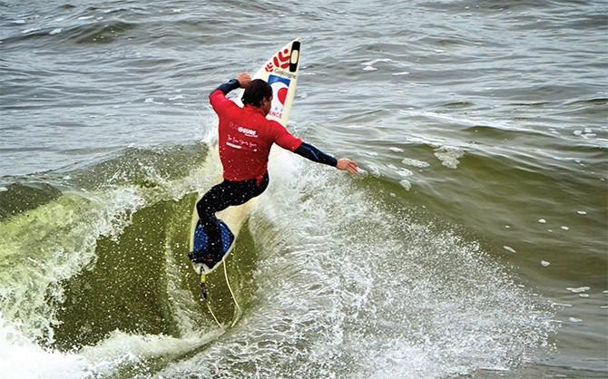 Surfing in Bundoran 2 by Andy Hill