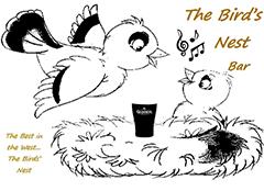 Logo for the Bird's Nest, Main St., Bundoran