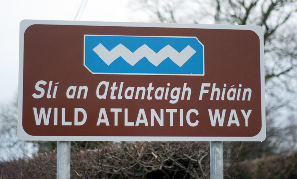 A sign for the Wild Atlantic Way between Burt and Newtown.
