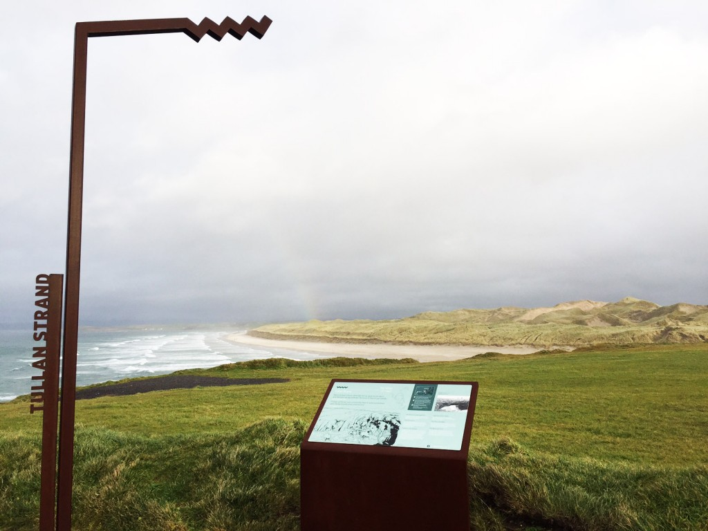 The Tullan Strand Wild Atlantic Way Discovery Point at the start of the Roguey Walk.