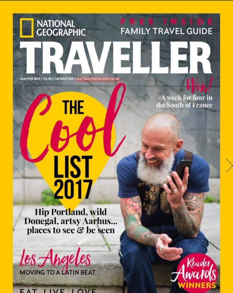 Cover of National Geographic Traveller Jan/Feb 2017 edition - pic National Geographic.