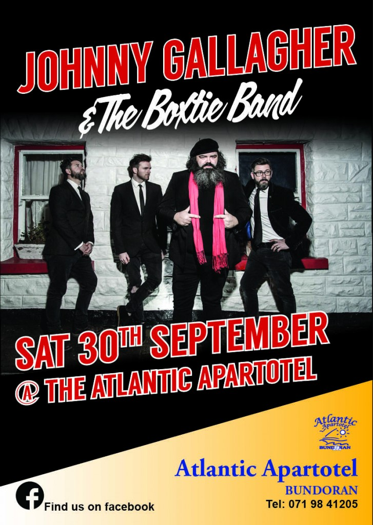 Boxtie play the Atlantic Apartotel on Saturday September 30th