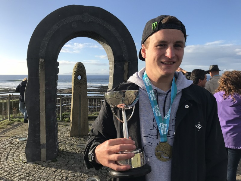 2017 Irish national surf champion Gearoid McDaid