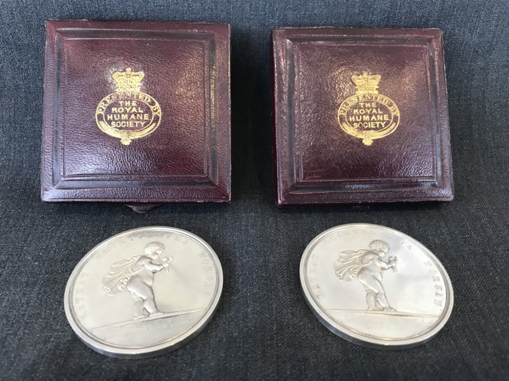 Royal Humane Society medals awarded to Mary and Kate Kane