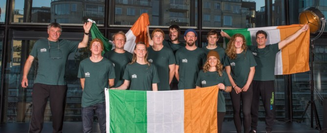 The Irish surf team recently at Eurosurf in Norway