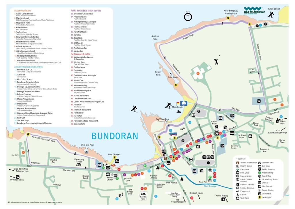 Bundoran map with selfie trail