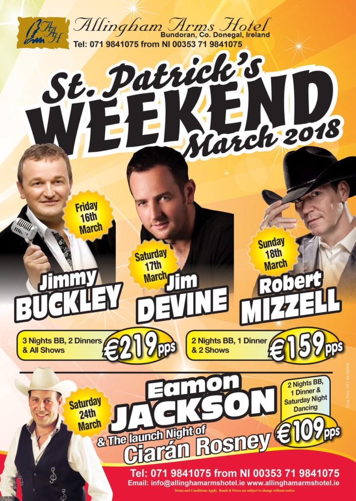St Patrick's Weekend at the Allingham