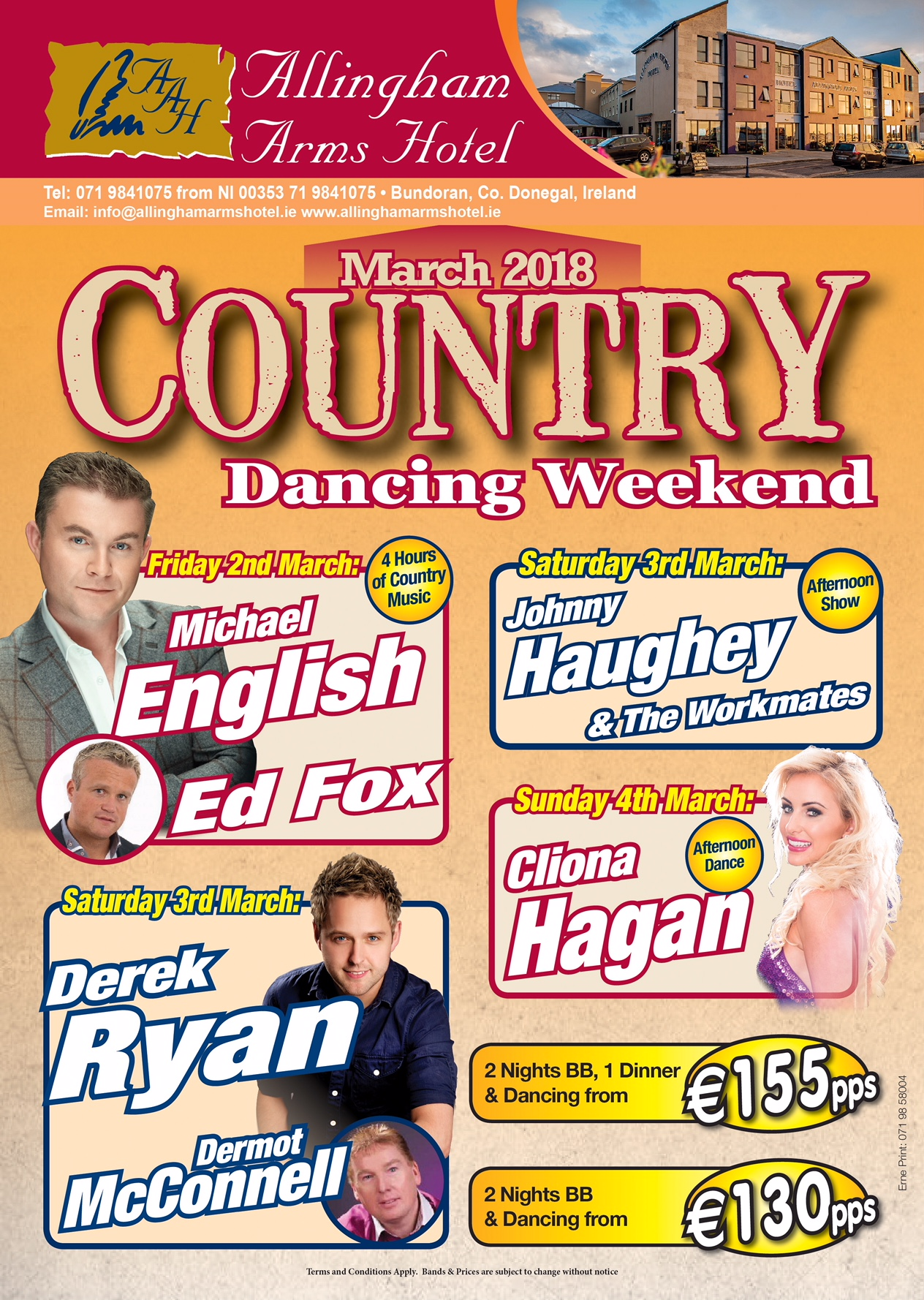 Allingham Arms Country Dancing Weekend March 2018 Special Offers