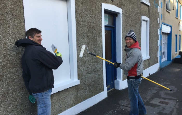 Working hard on prepping at the East End recently for the Bundoran Community Challenge