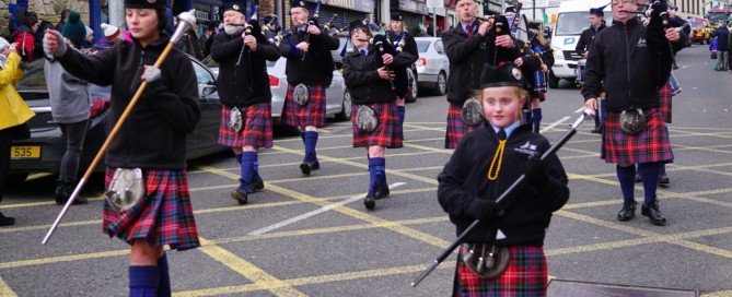 Successful st patrick's day parade - One of the marching bands in Bundoran for St Patrick's Day