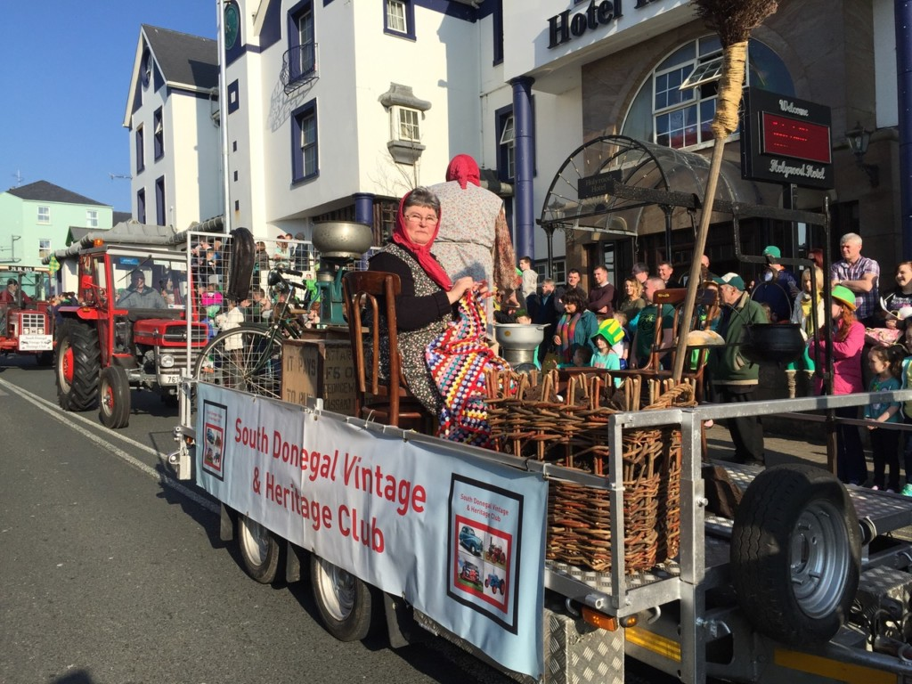 The South Donegal Vintage and Heritage Club in the St Patrick's Day parade