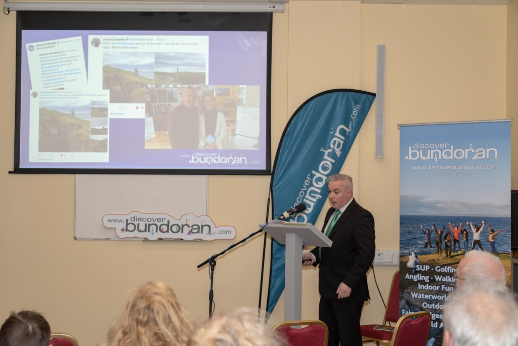 Bundoran Tourism Officer Shane Smyth hosting the launch