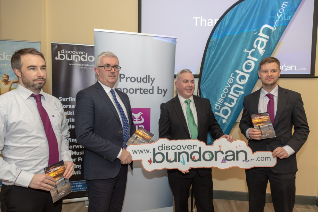 AIB sponsored the launch - pictured L-R is Trevor Regan, Mark Crawford, Shane Smyth and Dan Breslin - pic Conor Conlon CMP Ireland