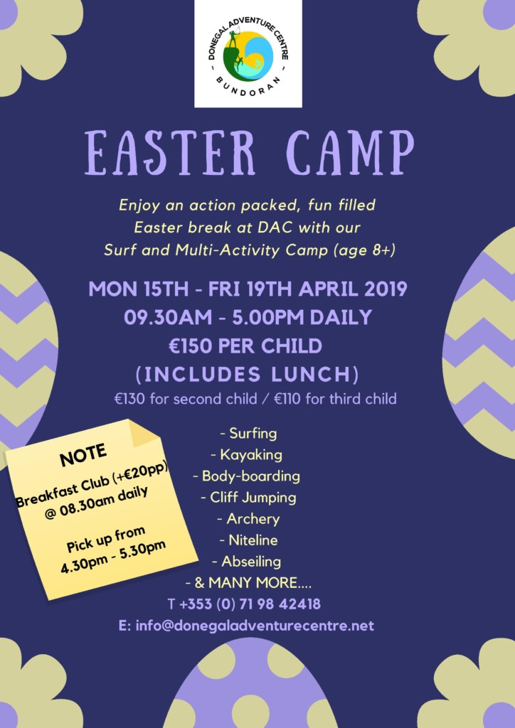 Easter Camps 2019