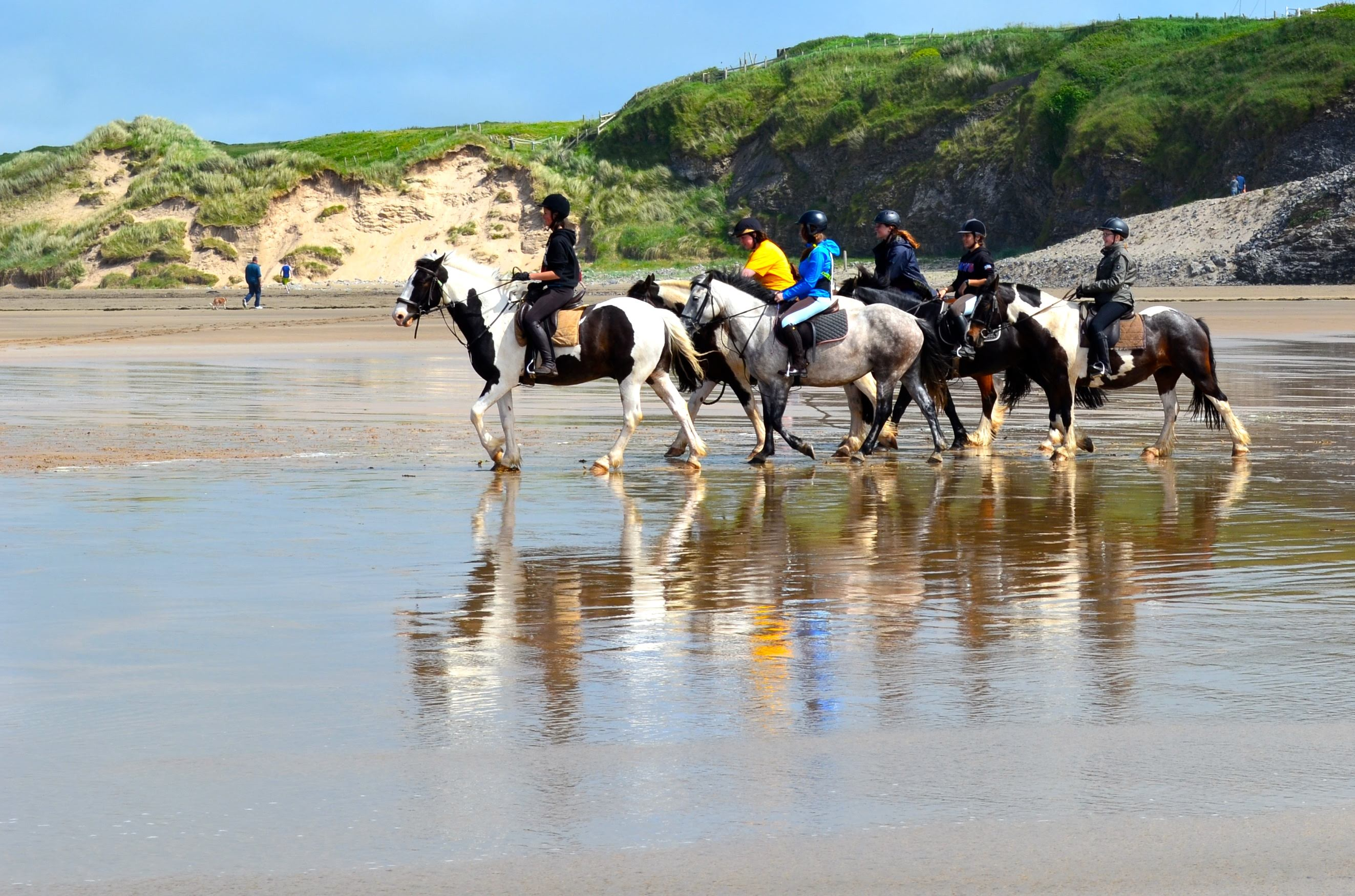 Horseriding on Tullan Strand - pic by Brittni Stasiuk