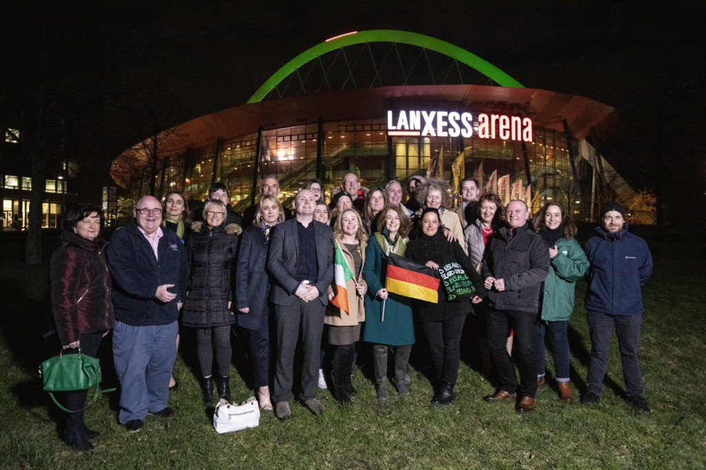 picture shows The Irish trade at the Lanxess Arena Cologne which took part in Tourism Ireland's Global Greening as bundoran joins trade delegation to Germany