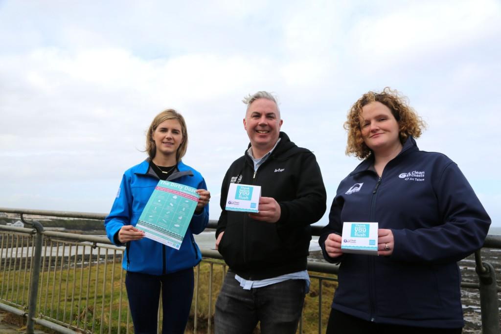 Katie Durcan Irish Water, Shane Smyth, Discover Bundoran and Beckey-Finn Britton, Clean coasts - pic Brian O'Droma