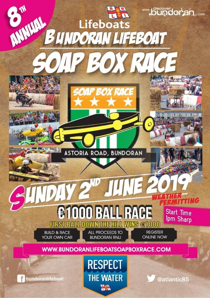 Poster for Bundoran Lifeboat Soapbox Race