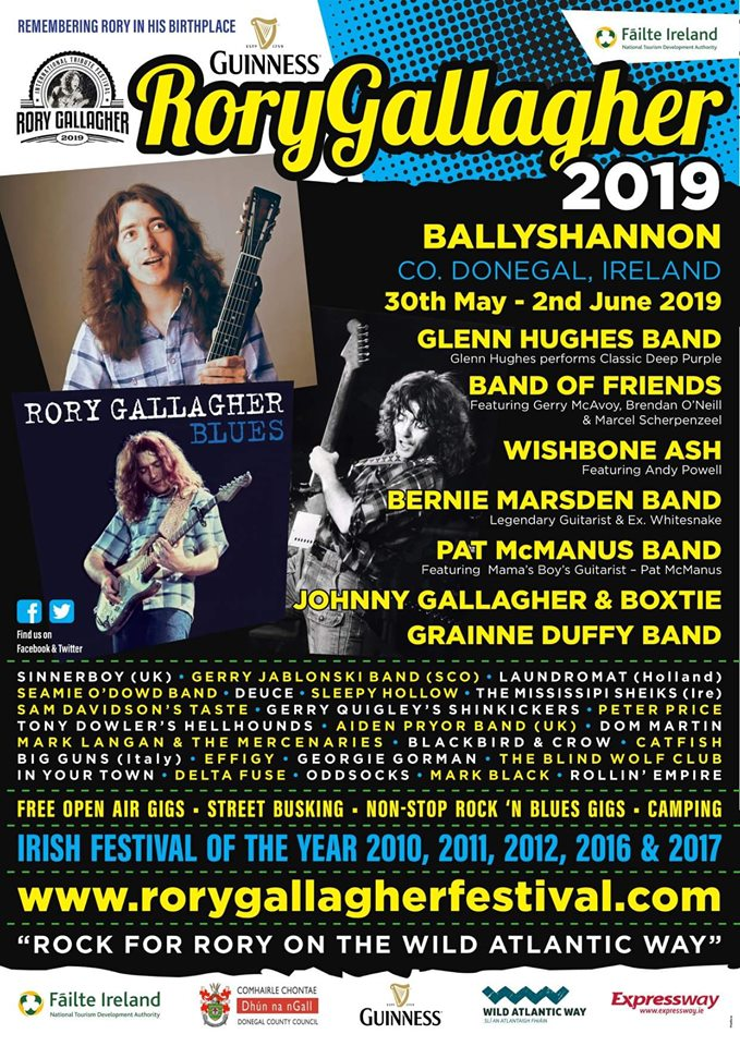 Rory Gallagher Festival poster 2019