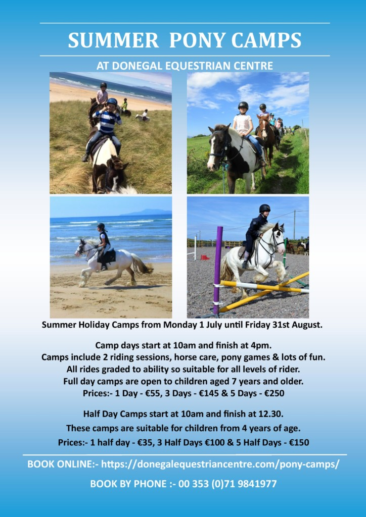 Poster for Donegal Equestrian Centre Summer Camps 2019