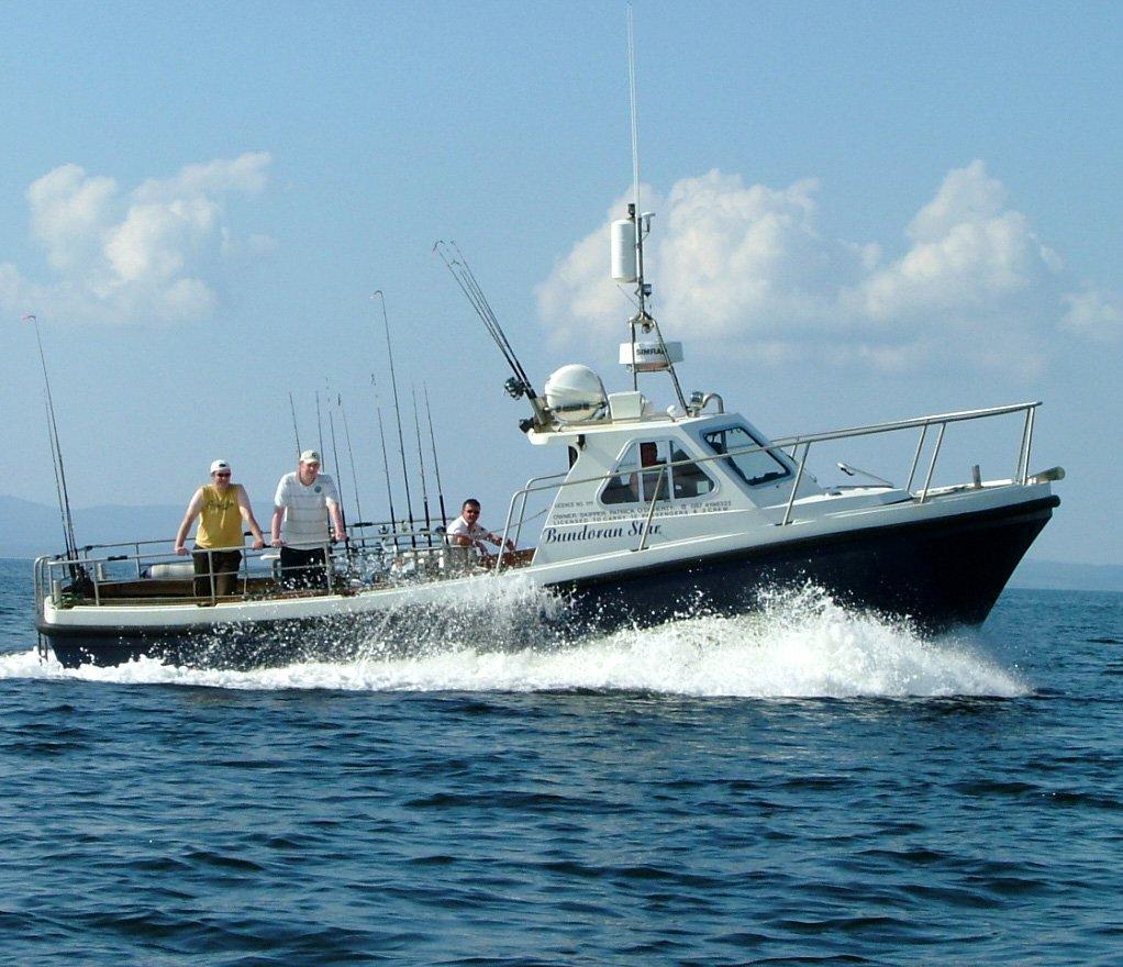 picture shows Bundoran Star fishing boat at sea - tours from Bundoran