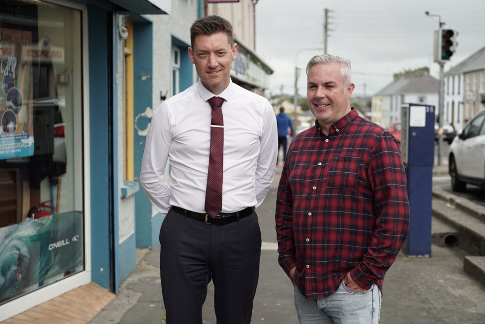 Shane Smyth host of the Bundoran Weekly pictured with Conor McLaughlin of McMorrow & McLaughlin Solicitors