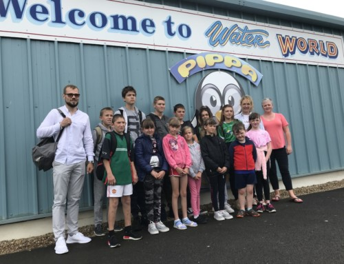 Chernobyl Childrens group visit Waterworld for fun day out