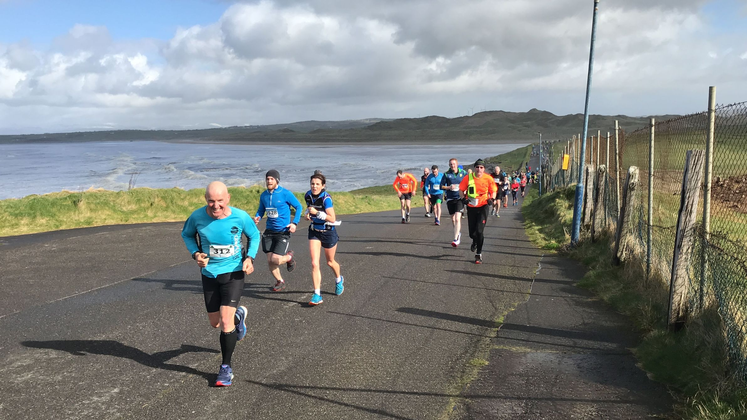 Runners on Roguey during the 2019 Cara Bundoran Challenge - virtual cara run
