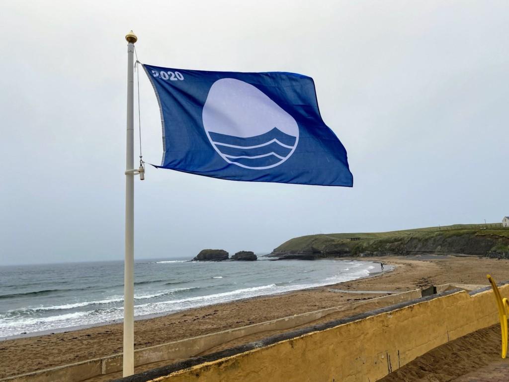 Bundoran 2020 - The Blue Flag flying proudly at Main Beach for the 2020 bathing season.