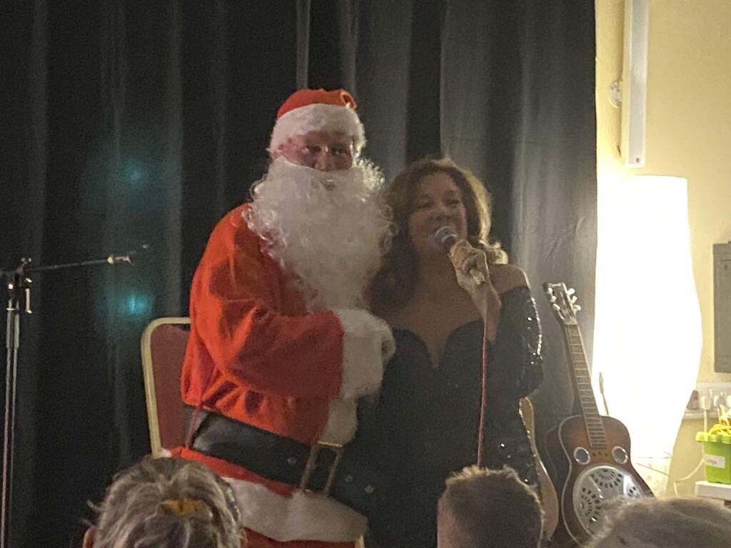 Marion Fitzgerald and Santa at last year's Bundoran Christmas concert