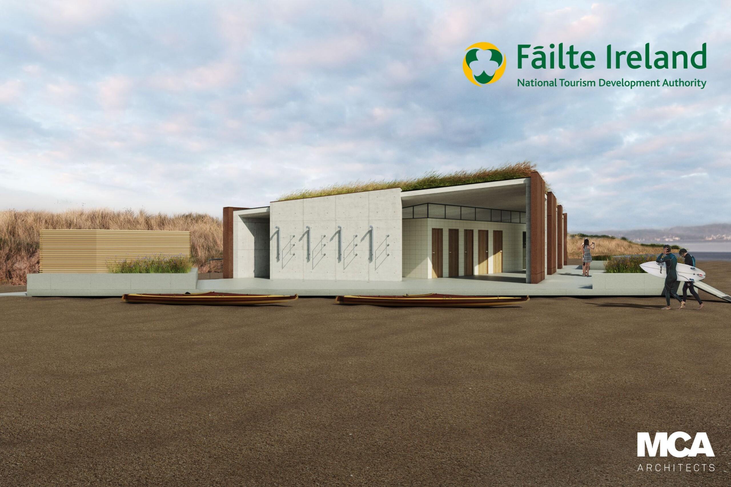artist rendering of failte ireland facility - platforms for growth bundoran