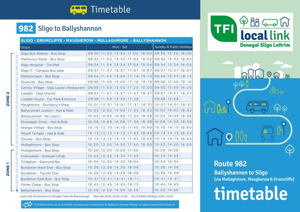 new local link timetables